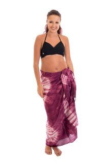 Sarong Pareo Wickelrock Strandtuch Lunghi Dhoti Sauna Tuch Fuchsia Handtuch
