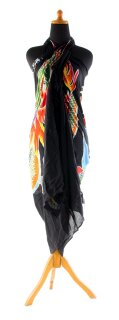 Sarong Pareo Wickelrock Dhoti Lunghi Tuch Strandtuch Wandbehang Drache Schal D1