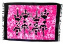 Sarong Pareo Wickelrock Dhoti Lunghi Tuch Strandtuch Pink...
